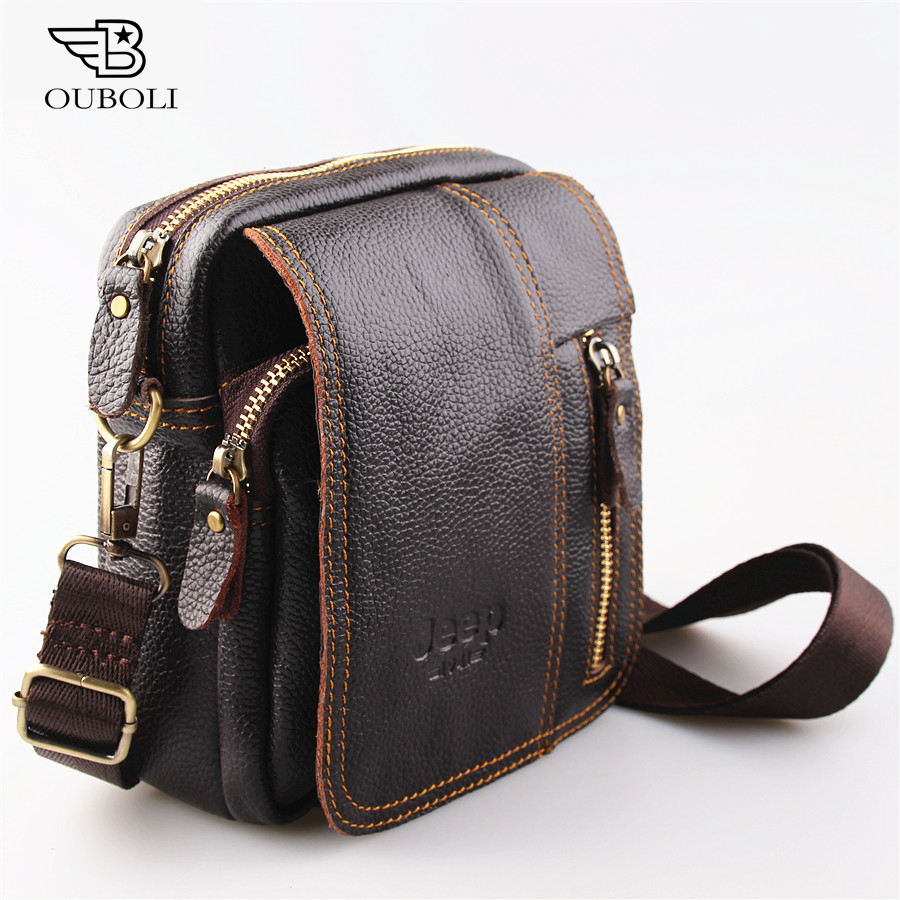 2016 new 100% genuine leather men bag fashion designer crossbody bags design men bag cowhide leather small messenger bag for man(China (Mainland))