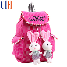 Charm in hands! 2015 Hot New School Bags Dot Princess Printing Backpacks High Quality Canvas Backpack Women Backpacks LM2550(China (Mainland))