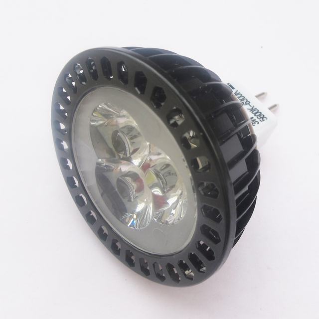 Bright mr16 12v 24v 3w 5w led fins lamp cup low voltage ceiling spotlights jewelry cabinet 40mm