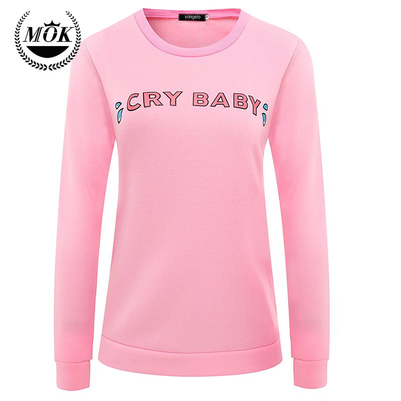 Cry Baby Hoodie pink Sweatshirt lovely harajuku coat 2016 new autumn fashion sweatshirt(China (Mainland))