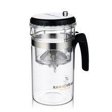 New Useful Multi-purpose 200ml Glass Tea Pot with Stainless Infuser for Home Cafe Guest Personal Use