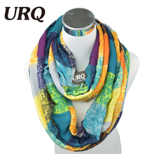 2016 New Tube Scarves Warm For Women Fahion Design Plaid lady Ring Scarfs Infinity Scarf Tube V8A18430(China (Mainland))