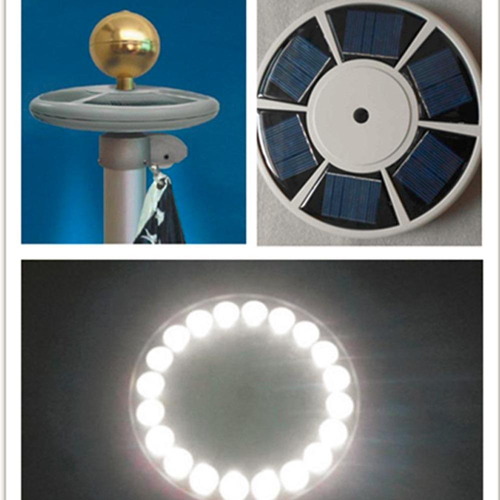 Worldwide Solar Upgraded flagpole Light 20LEDs Top Mount For yard Camping Garden decor hot sales(China (Mainland))