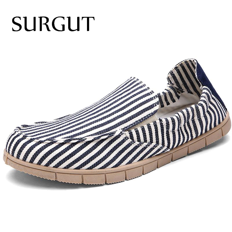 Fashion Summer Causal Shoes Men Loafer High Quality Stripe Print Canvas Men Shoes Soft Moccasins Men Driving Shoes Flats For Man<br><br>Aliexpress