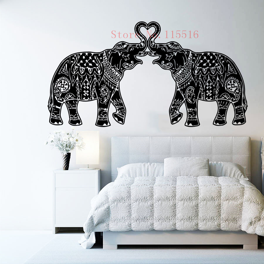 Elephant Decor Ideas: E432 Wall Stickers Home Decor DIY Poster Decal Mural Vinyl