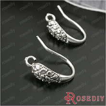 (28034)10PCS Height 15MM Antique Silver Brass Earring Hooks Jewelry Findings Accessories Wholesale Free Shipping(China (Mainland))