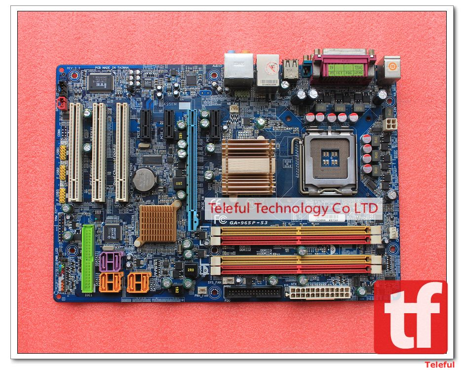 LGA 775 Motherboard for Gigabyte GA-965P-S3 P965+ICH8 Chipset DDR2 PC 100%Tested &Working perfect(China (Mainland))