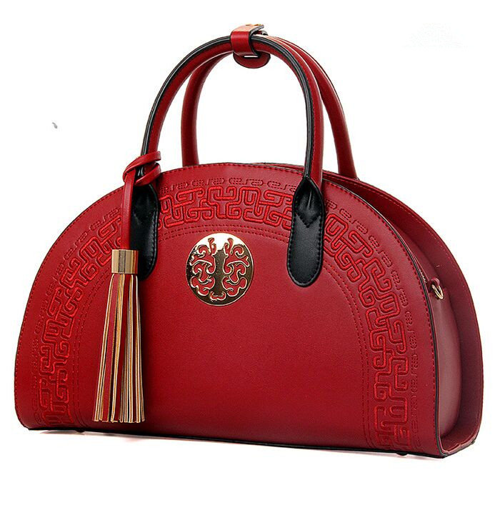 Classic Lady Tassel omen Bags Chinese Red Women Hobos Bag Toes Beige Handbags Vintage Blue Zipper Bags New(China (Mainland))