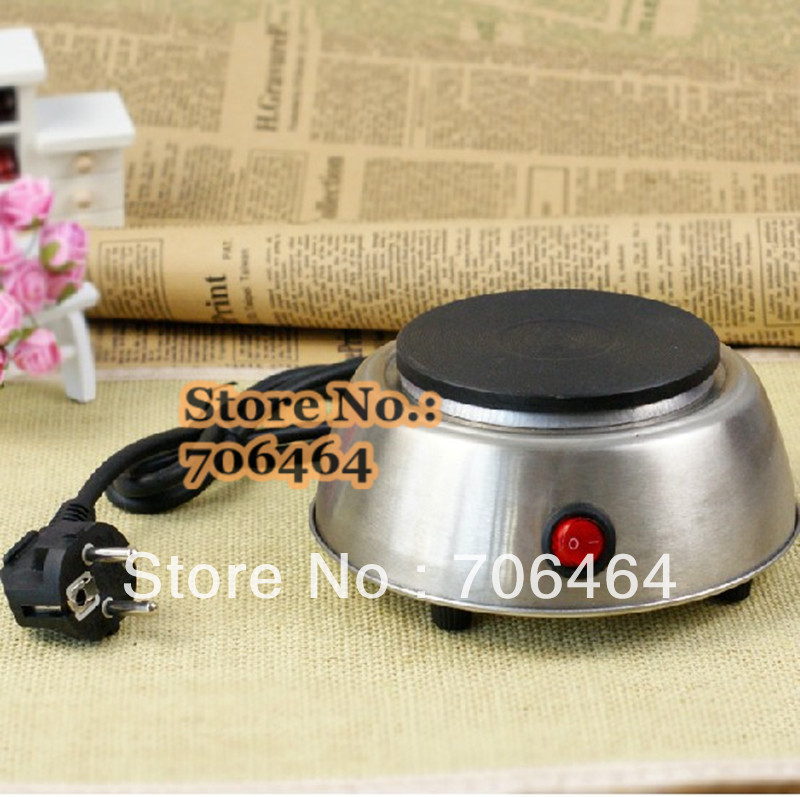 Freeshipping Mocha pot stainless steel MINI stove Electric Hot Plate multifunction portable coffee heater(China (Mainland))