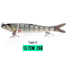 VTAVTA 14 см 23 г тонущие рыболовные приманки, наживки, шарнирные кренкбейт Swimbait 8 сегментов жесткая искусственная приманка для рыболовных снаст...(China)