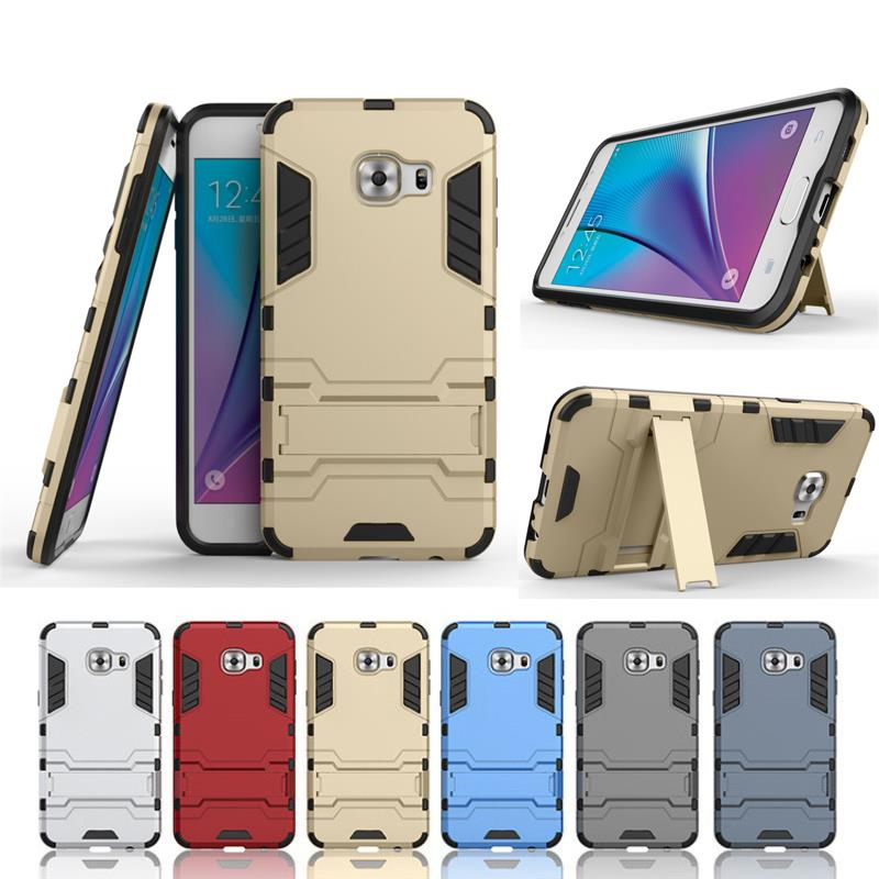 Luxury Shockproof Cover Kickstand Heavy Duty 2 in 1 Hybrid Armor Hard Case Cover For Samsung Galaxy C5 C5000 cases(China (Mainland))
