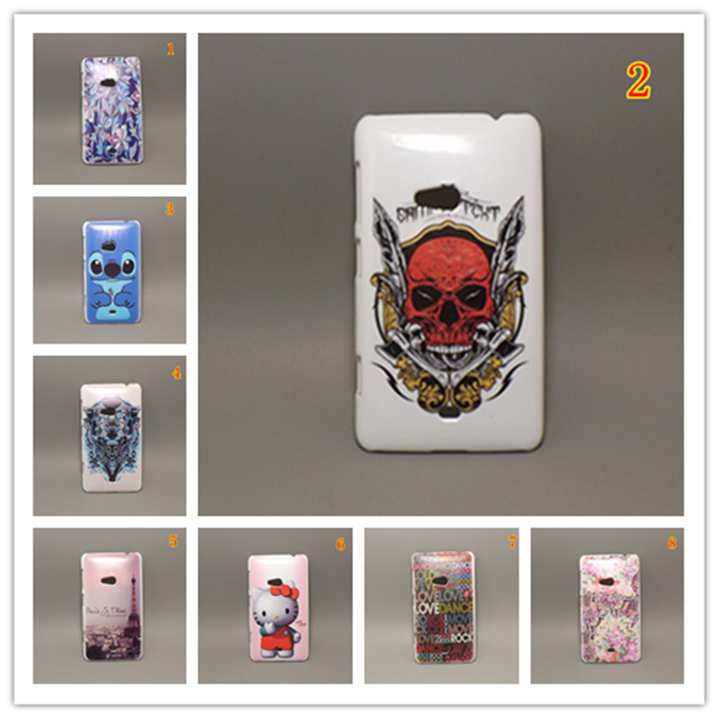 Fashion design Rubber Flower Painting Hard Plastic cell Phone Case for Nokia Lumia 625+ 1 Screen Protector()