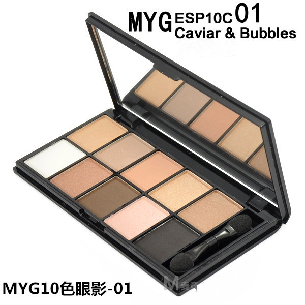 2015 New Hot 10 colors eye shadow palette smokey eyes makeup matte eyeshadow palette Pigment cosmetics set with Brush &Mirror(China (Mainland))