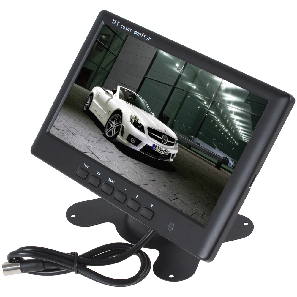 HD 800 x 480 Super Thin 7 Inch Color TFT LCD 2 Channels Video Input Car Rear View Monitor + E306 18mm Color CMOS/CCD Car Camera(China (Mainland))