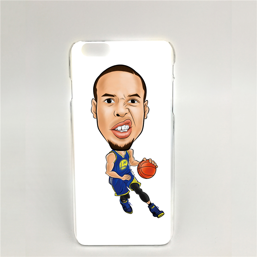 Stephen Curry Hard transparent Cover Skin Back Case for iPhone 6 6s 6plus 6s plus 00097(China (Mainland))