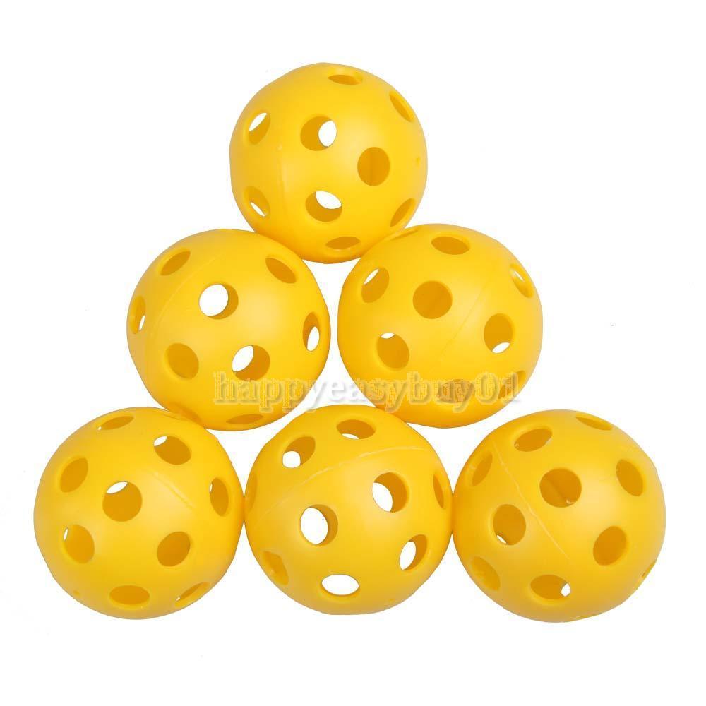 50Pcs Plastic Whiffle Airflow Hollow Golf Practice Training Sports Balls H1E1(China (Mainland))