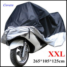 Big Size Universal Car Motorcycle Cover Waterproof Dustproof Scooter Covers UV Snow Resistant PEVA Heavy Racing Bike Cover(China (Mainland))