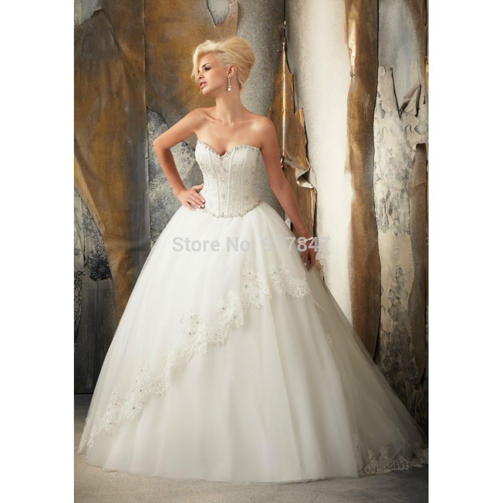Hem A Lace Wedding Dress : Gorgeous beading lace up appliques hem fashionable wedding dress