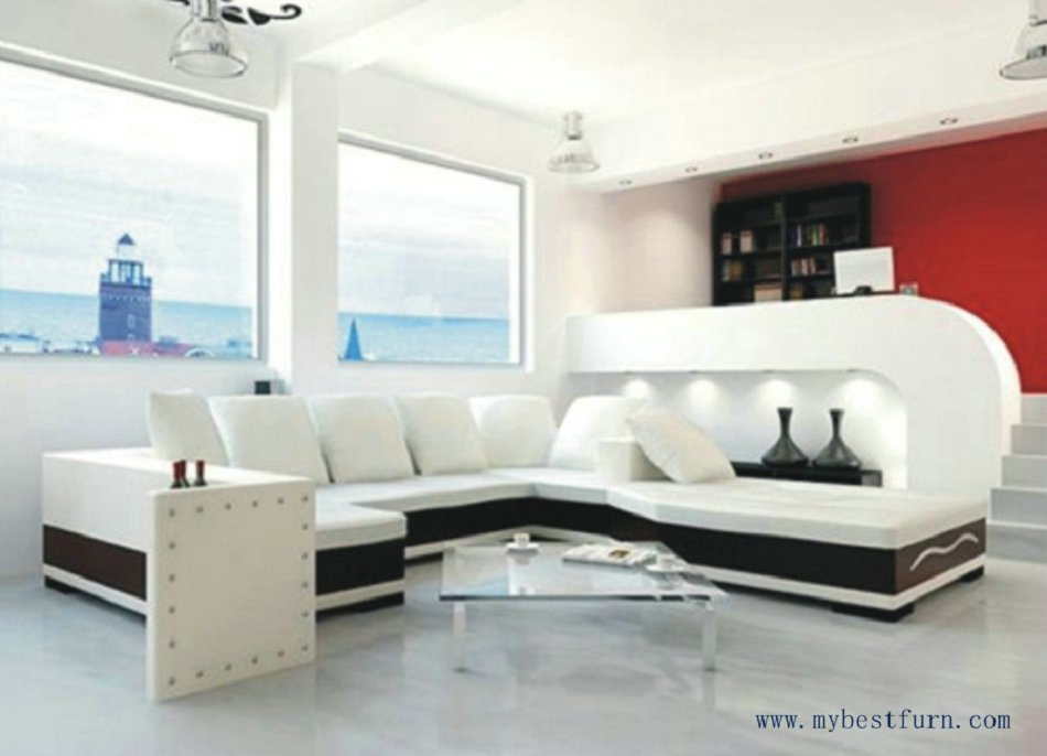 Buy free shipping u shaped 2 color Room and board furniture quality