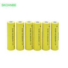 10pcs AA Ni-MH 1.2V AA Rechargeable 2800mAh Neutral Battery Rechargeable battery aa batteries