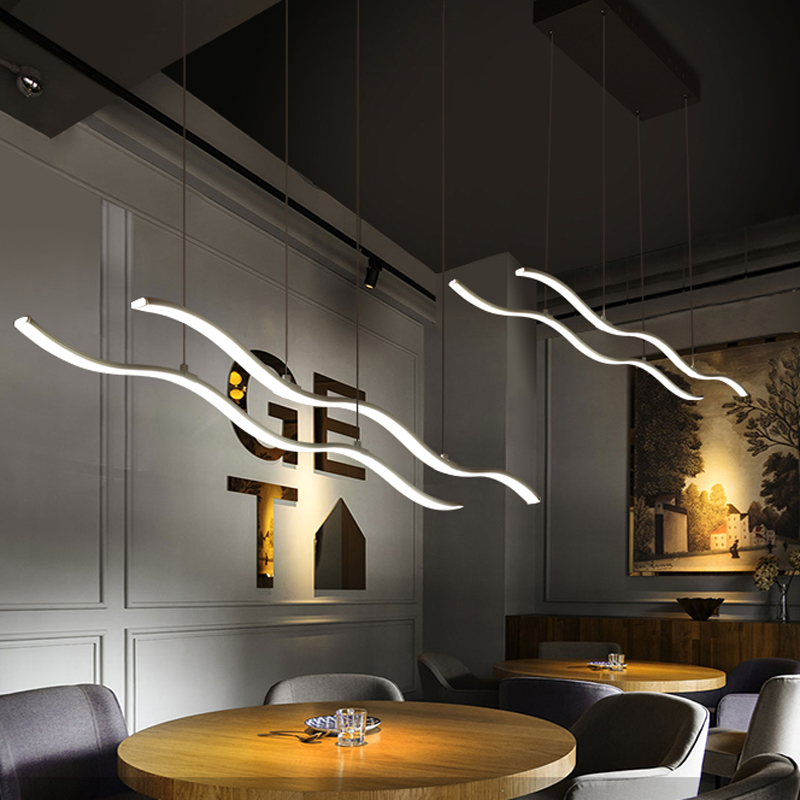 Buy minimalist modern led pendant lights for Living room hanging lights