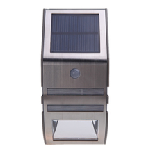 Cool LED Solar-powered Light with 2 SMD LED Polycrystalline Solar Panel PIR Sensor Rechargeable Waterproof for Pathway Garden(China (Mainland))