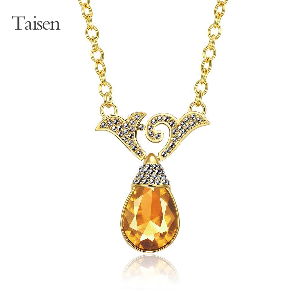 gold necklace 2016 new drip type pendants for friends fashion pendant women accessories sweets flower necklaces jewelry(China (Mainland))