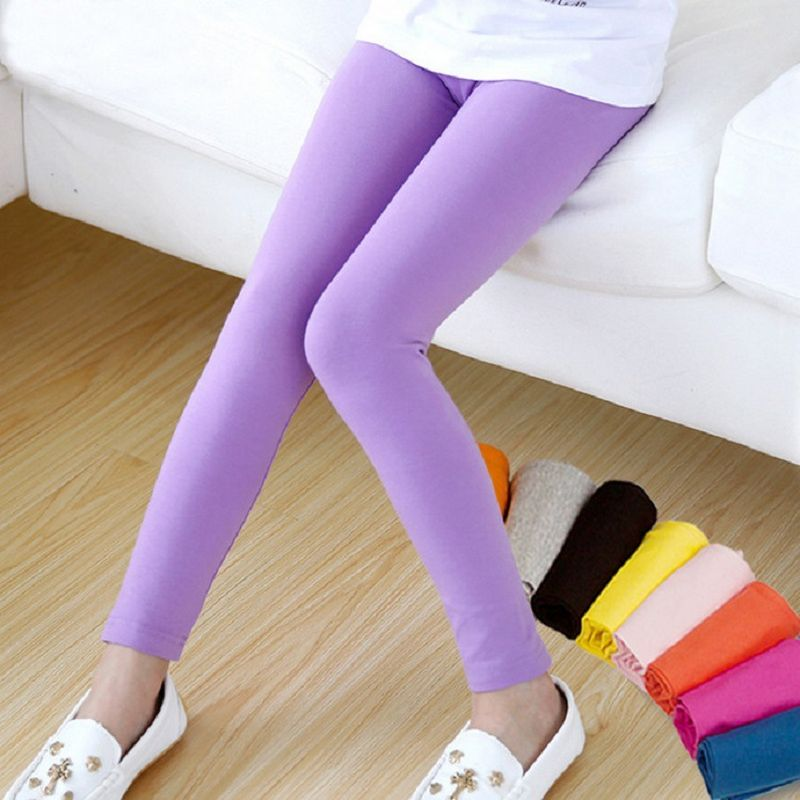 Girls Pants Slim Modal Summer Leggings Girls 2016 Kids Clothes US Size 8T 9t 7t 2t 3 Candy Color Girls Pants Slim Leggings Girls(China (Mainland))