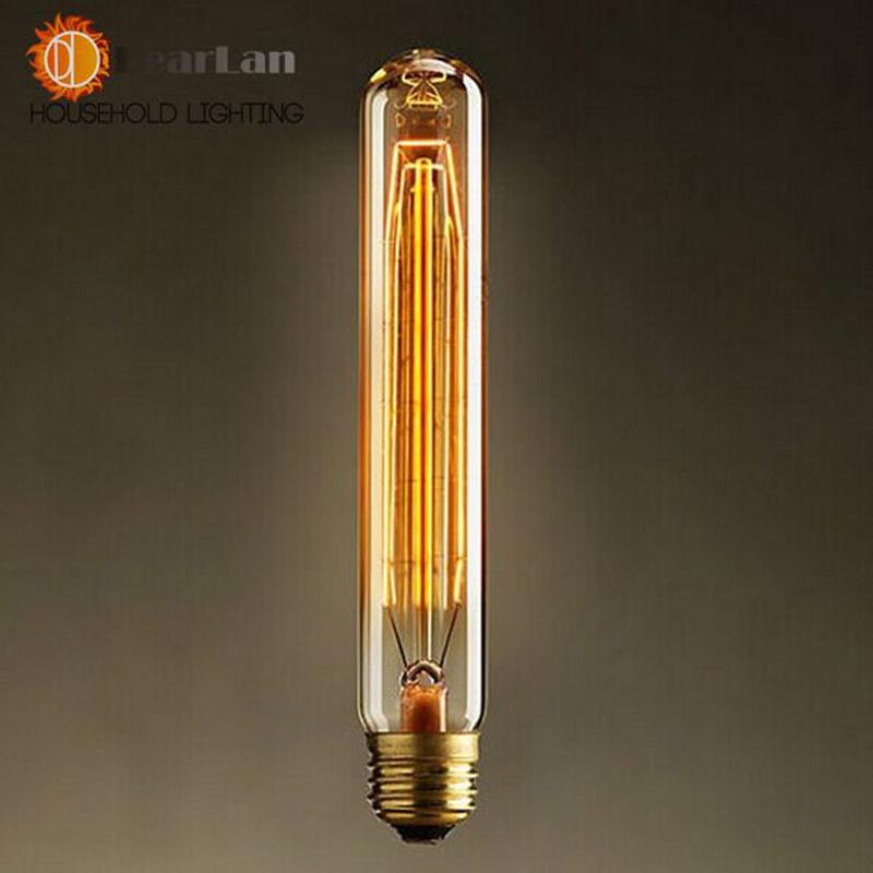 Free Ship,Special Wholesale Items,Fashion Incandescent  Edison Bulbs E27/40W/220V 28*185(mm),Vintage Edison light Bulb Fixtrures(China (Mainland))