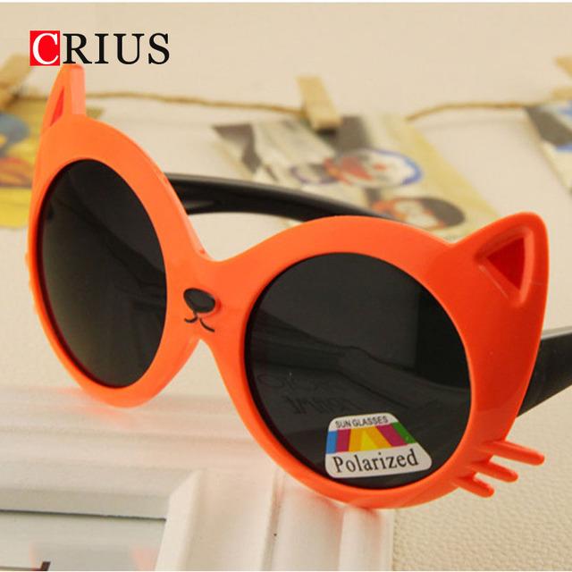 D Поляризованные очки для мальчика девочек милый ребенок цвет кошки солнцезащитные очки высокого качества детский мультфильм oem бренд Европа 2016 новый