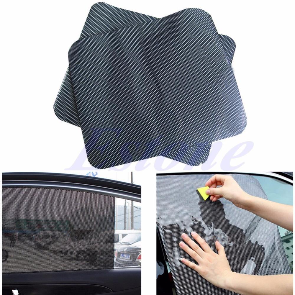 Free Shipping 2Pc Car Side Rear Window Sun Block Static Cling Shade Cover Visor Shield Screen(China (Mainland))