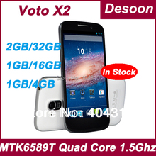 In stock! VOTO X2 Phone MT6589T 1.5Ghz 13MP 1G RAM 32GB ROM Quad Core 5.0 Inch IPS 1080*1920 Android 4.2.1 13MP Russian(China (Mainland))
