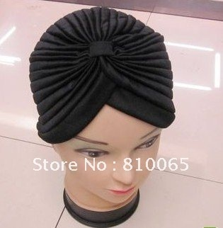 48pcs/lot chemo cancer hat scarf Turban HeadWrap head cover Hat Bandana 10 Colour