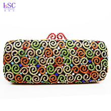 LaiSC Luxury crystal gold women bag party evening clutch bags bride jelly bag wedding purse ladies sacoche customized bag SC137