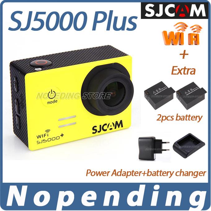 [3PCS Battery+Battery Charger] + Original SJCAM SJ5000 Plus WiFi Action HD Camera Ambarella A7LS75 Waterproof Sports Cam HD DVR(China (Mainland))