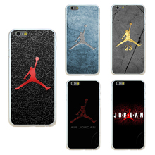 Buy Fashion Bulls 23 Jordan logo phone cases apple iphone 7 plus case iphone 7plus cover 5.5 inch transparent hard shell for $1.39 in AliExpress store