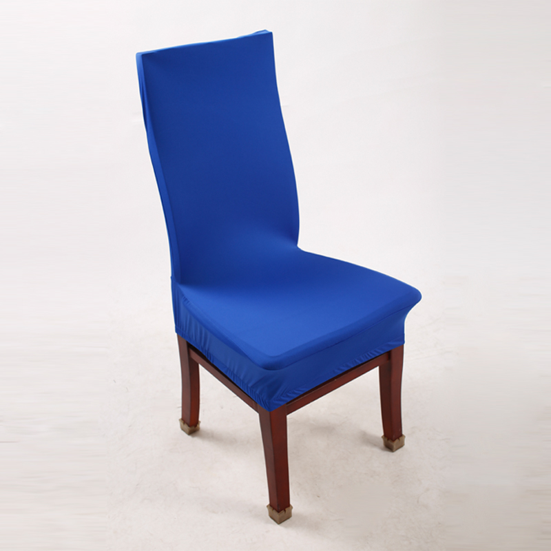 1 Piece Royal Blue Polyester Spandex Dining Chair Covers For Wedding Party Chair Cover Brown Dining Chair Seat Covers V30(China (Mainland))