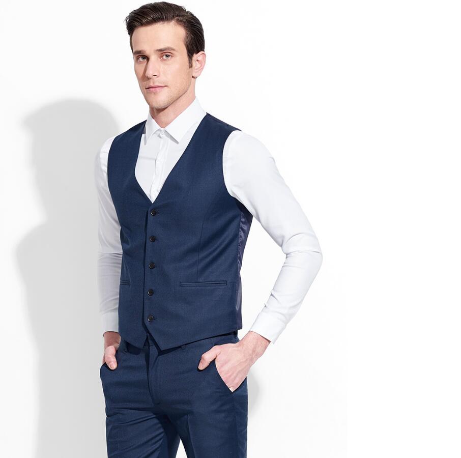 2019 2017 Limited Waistcoat Men Dark Suit Vest Men Formal Business