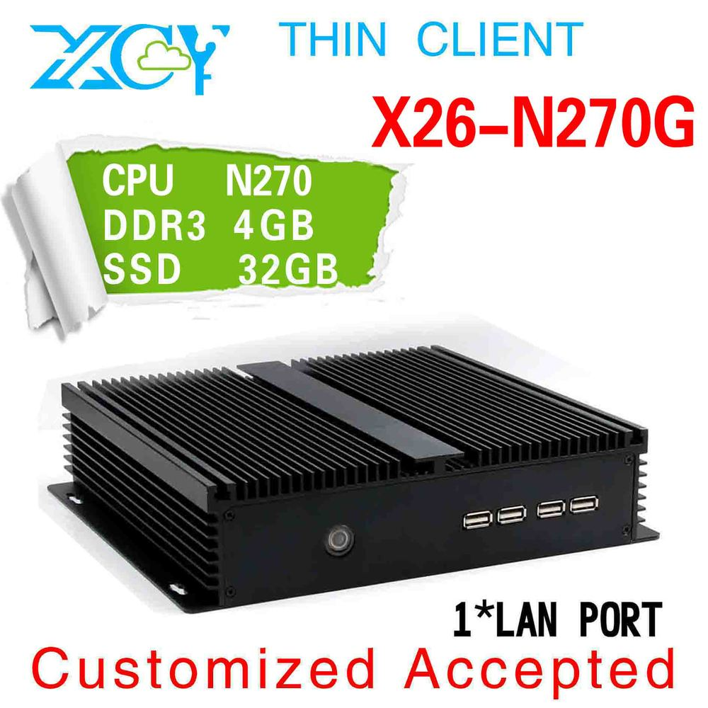 Big promotion!!! thin client with 32 bit 4g ram 32g ssd n270 thin client computer thin terminals business computer(China (Mainland))