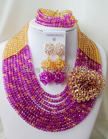 Latest Fashion  crystal beads nigerian wedding african beads jewelry set costume jewelry sets  ASD704<br><br>Aliexpress