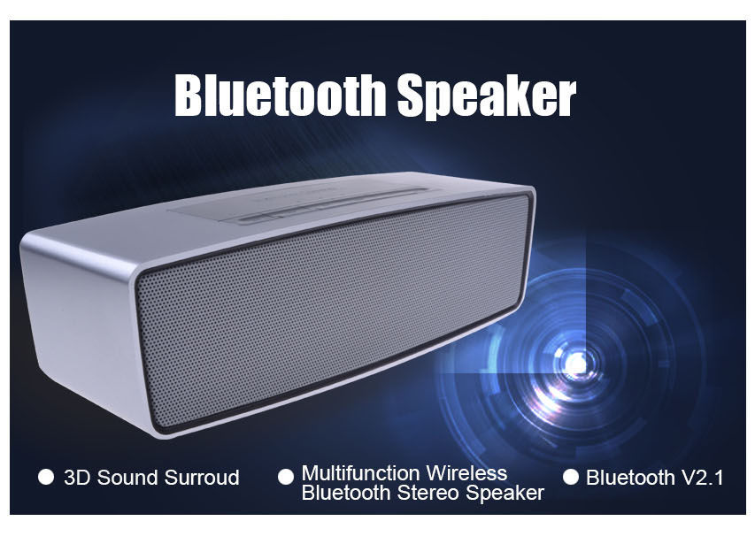 mini wirelesss HIFI High-end Luxury Wireless Bluetooth 3D Sound Multifunction Stereo speaker With MIC Support SD Card(China (Mainland))