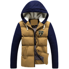New! Man Fashion Warm Parkas Size M~3XL Patchwork Design Cotton-Padded Style High Quality Men Winter Oudoor Down Jackets
