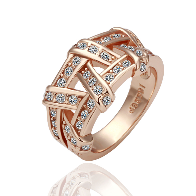 free shipping 18k gold plated rings high quality 18k