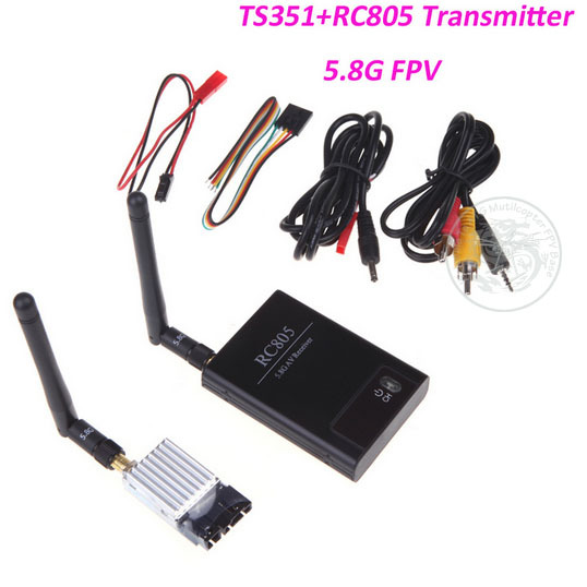 Boscam 5.8Ghz FPV 200mW 2KM 2000M AV Wireless Video and Audio Transmitter TS351+RC805 kit RC Multicopter DJI TX RX Receiver(China (Mainland))