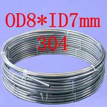 OD8*ID7mm,authentic 304 321 316 8*0.5mm food grade gas stainless steel capillary coiled tubing,bright coil tube,pipe pipeline(China (Mainland))
