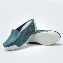 2016 mujeres del verano sandalias de cuero genuino informal mujer zapatos cuñas plataforma mujeres de las sandalias de los deslizadores mujeres(China (Mainland))