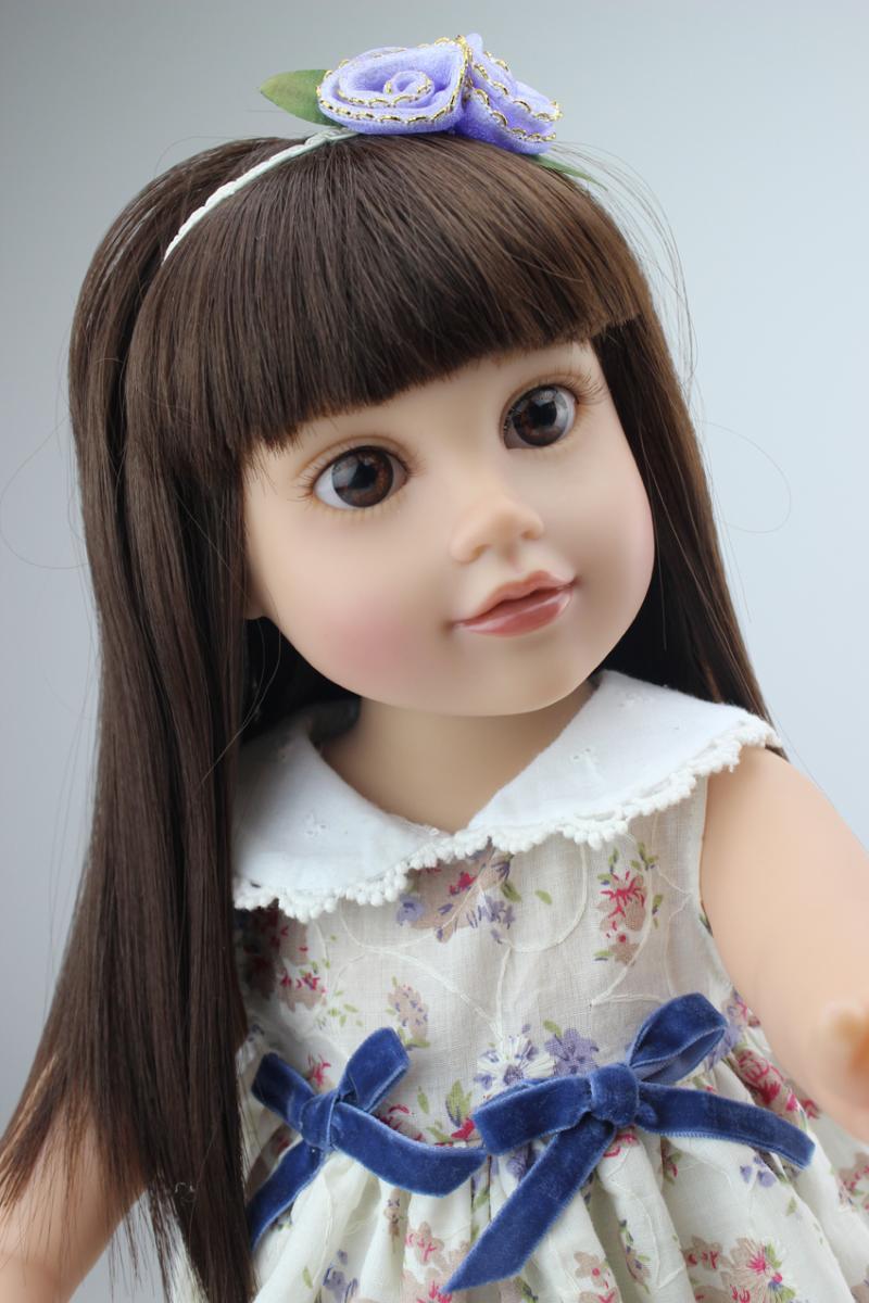 "18"" High Quality Lovely Journey Girl 45cm American Girl Doll Lifelike Baby Toy for Children Princess Bobbi Dress Girl Toy Doll(China (Mainland))"
