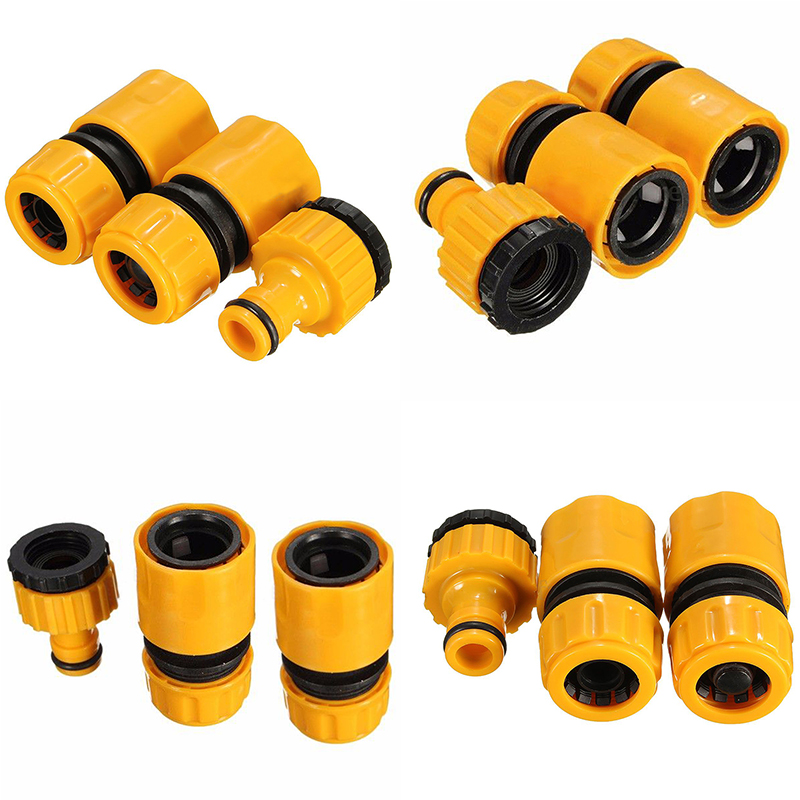 """3Pcs Fast Coupling Adapter Drip Tape For Irrigation Hose Connector With 1/2"""" 3/4""""barbed Connector Garden Irrigation Garden Tools(China (Mainland))"""