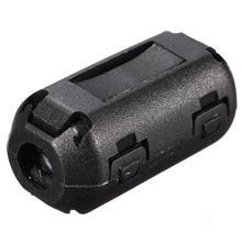 5pcs/lot  Black Plastic Clip On EMI RFI Noise Suppressor 5mm Cable Ferrite Core Filters Removable(China (Mainland))