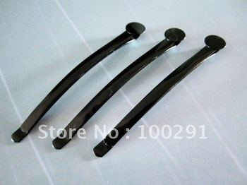60mm Hair bobby pin with 8mm Round Pad Black Stone Bobby Pins Jewelry Findings Accessories Components
